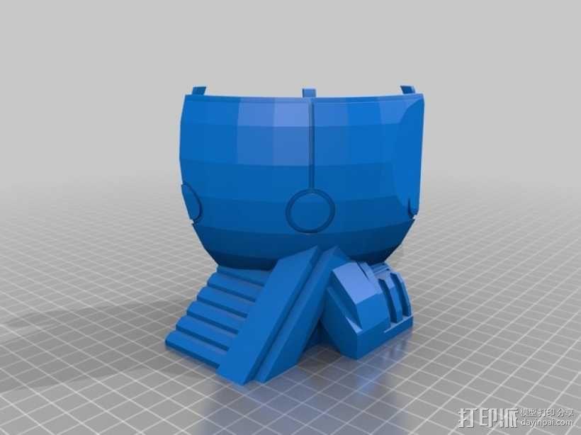 适合小型打印机的OmniSphere模型 3D模型  图4