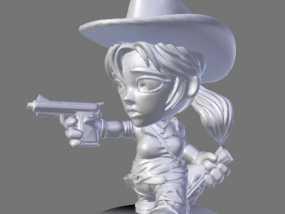 游戏《卡坦岛》中人物模型 3D模型