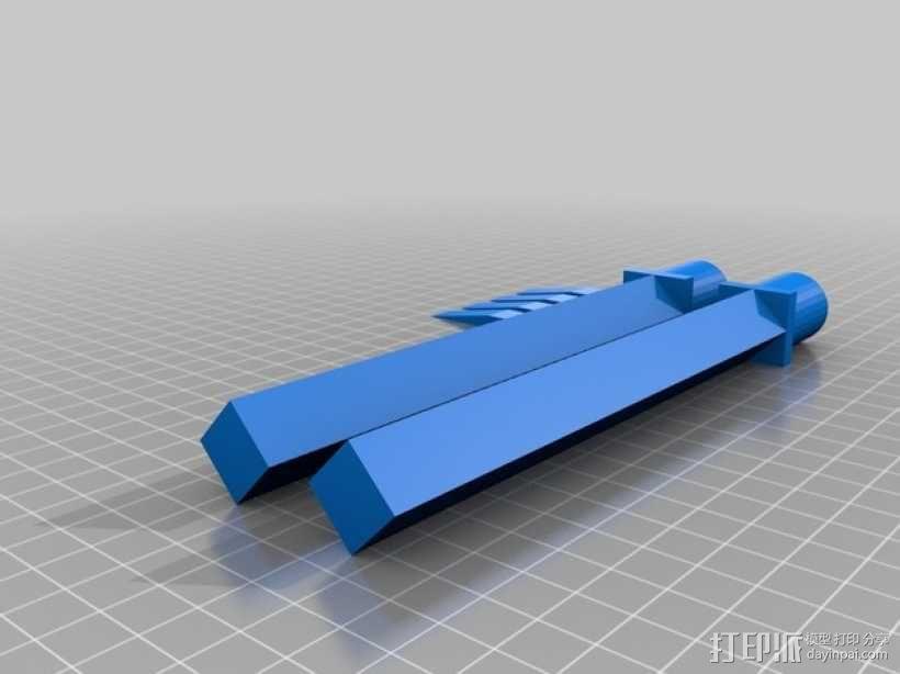 迷你短剑模型 3D模型  图1