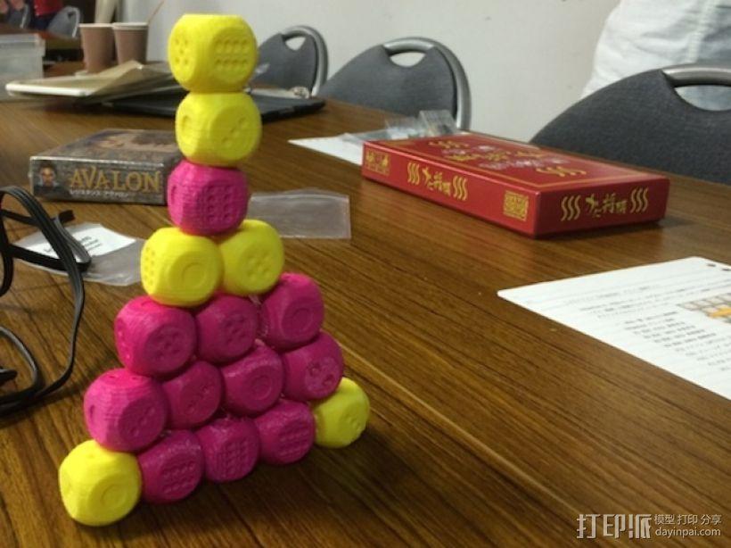 基于斐波纳契数列的骰子模型 3D模型  图1