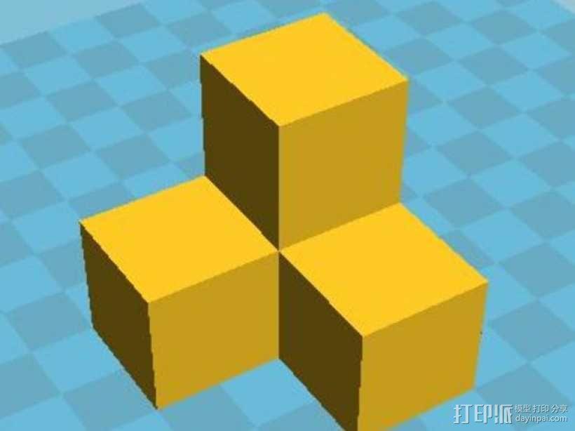 积木模型 3D模型  图1