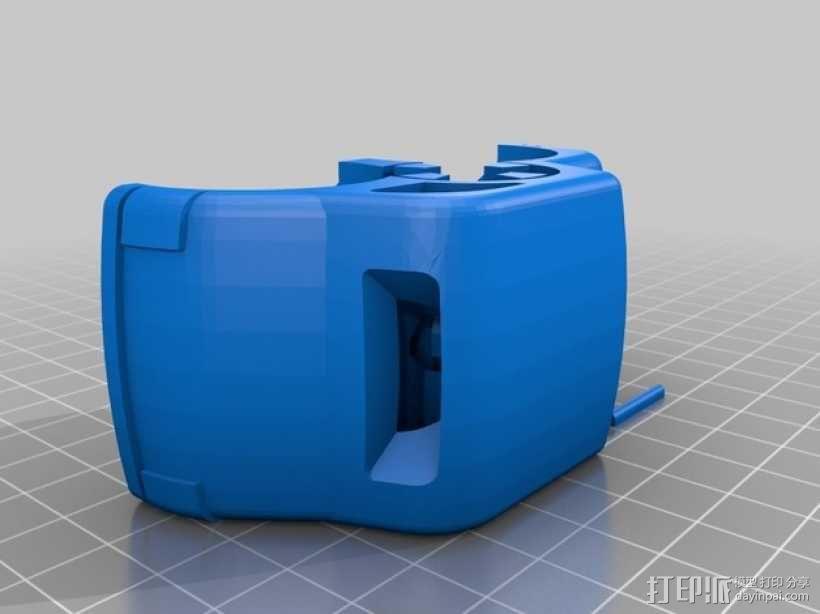 双色小汽车模型 3D模型  图2