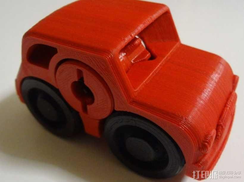 双色小汽车模型 3D模型  图1