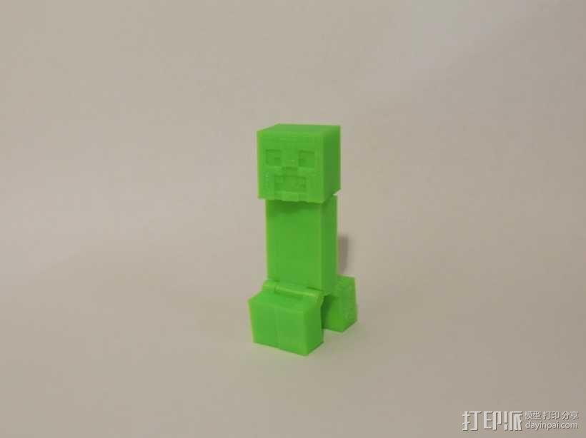 游戏《Minecraft》中爬行者模型 3D模型  图1