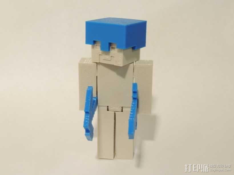 游戏《Steve vs.Zombie》中的人物造型 3D模型  图5