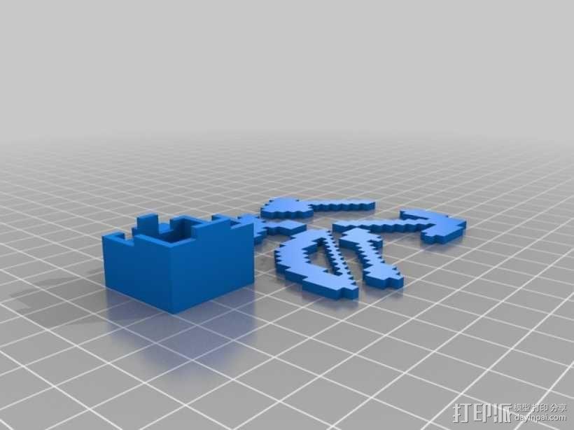 游戏《Minecraft》中使用的一系列道具模型 3D模型  图2