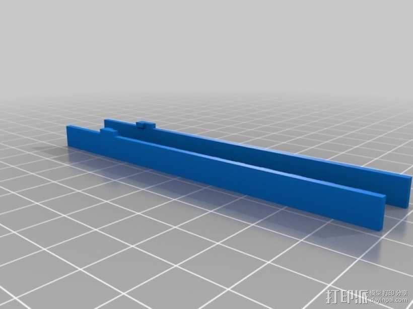参照乐高积木玩具的消防车梯 3D模型  图2