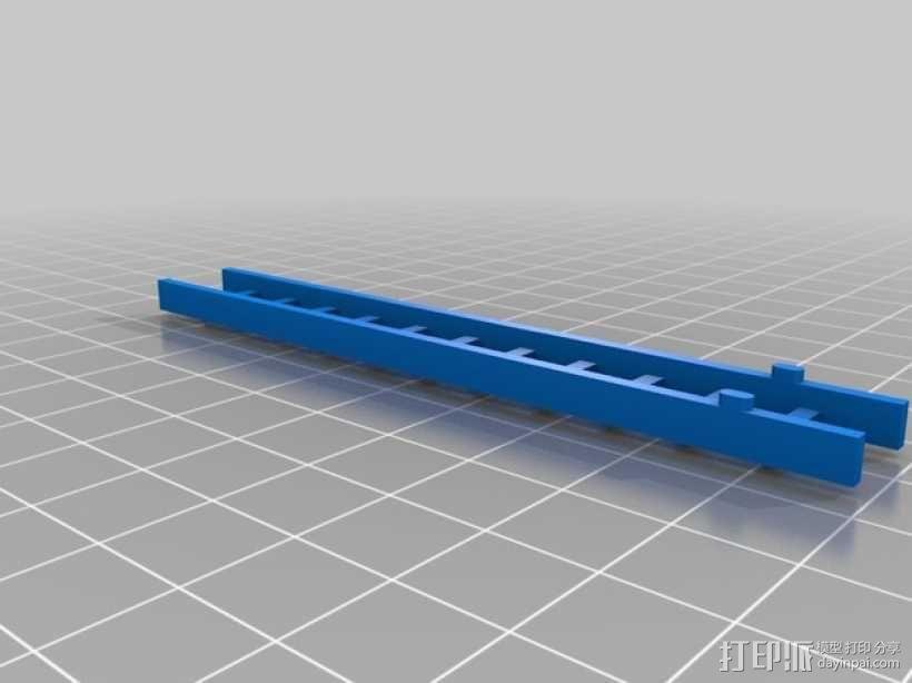 参照乐高积木玩具的消防车梯 3D模型  图4