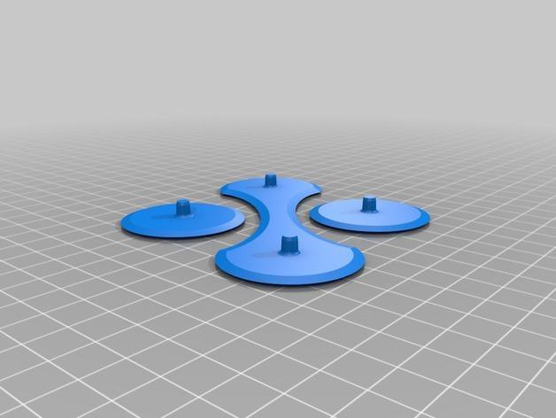 带有挂钩的迷你底盘模型 3D模型  图1