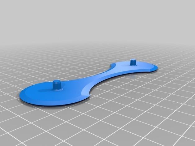 带有挂钩的迷你底盘模型 3D模型  图3