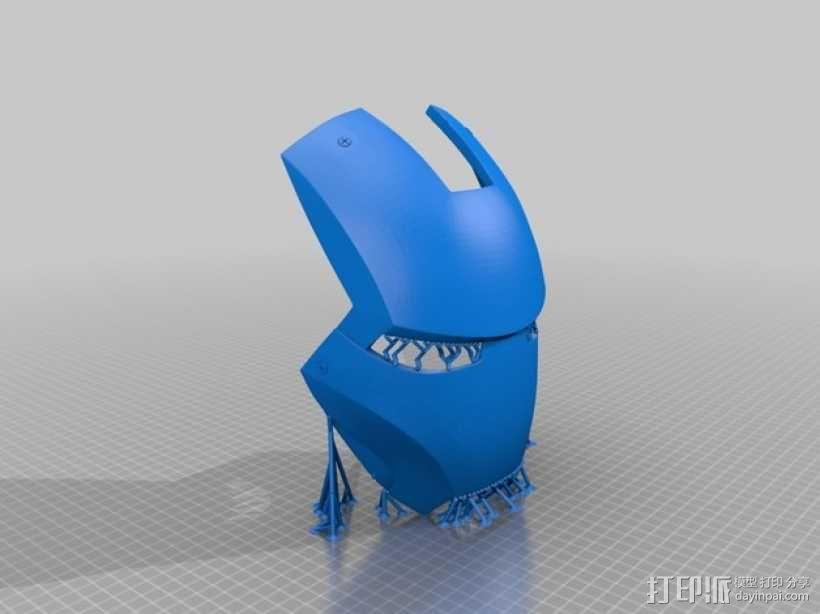 电影《钢铁侠3》面具模型 3D模型  图2
