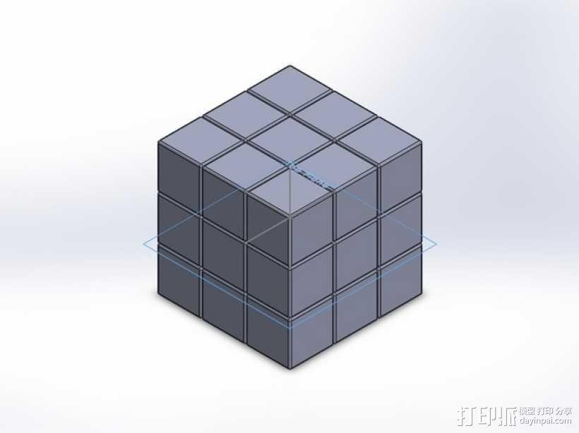 魔方模型 3D模型  图1