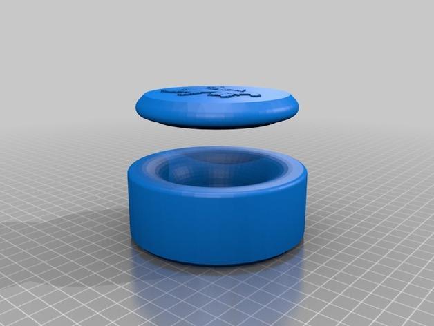棋牌游戏中使用的收纳盒 3D模型  图1