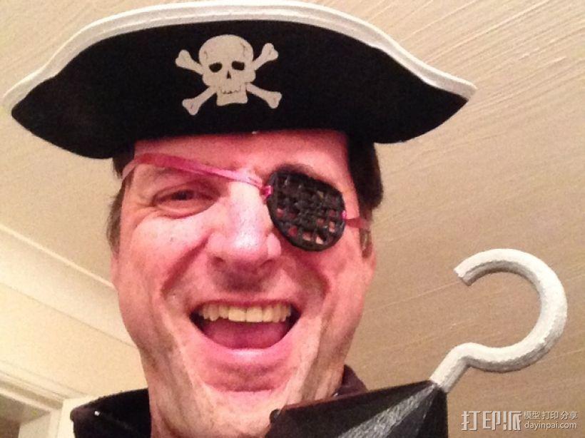 海盗眼罩模型 3D模型  图1