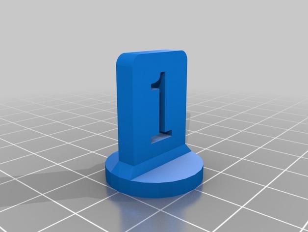 带有数字编号的棋子 3D模型  图3