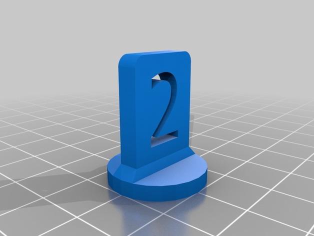 带有数字编号的棋子 3D模型  图4