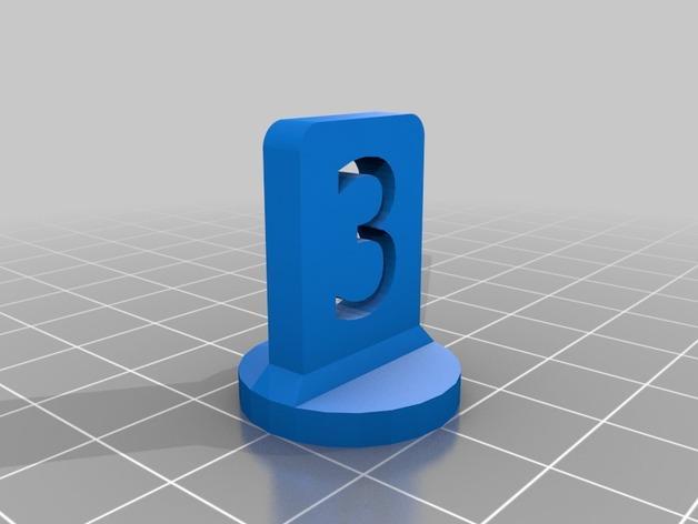 带有数字编号的棋子 3D模型  图5