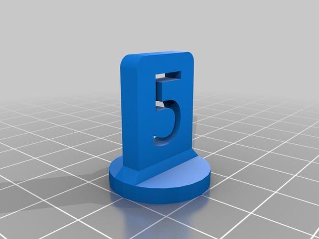 带有数字编号的棋子 3D模型  图7