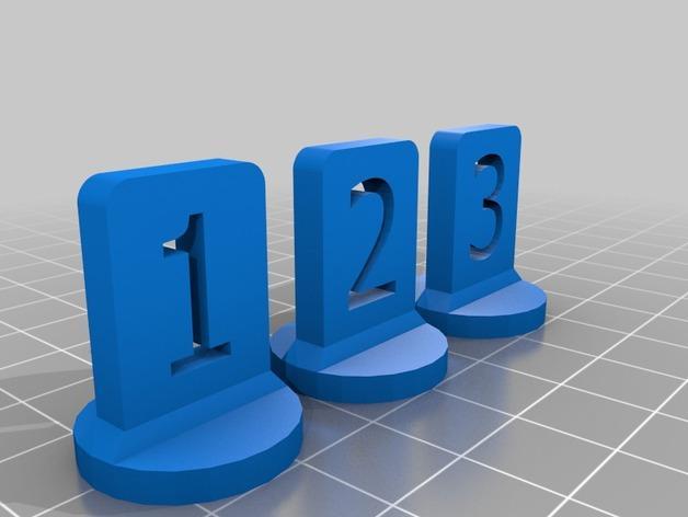 带有数字编号的棋子 3D模型  图12