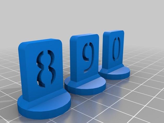 带有数字编号的棋子 3D模型  图14