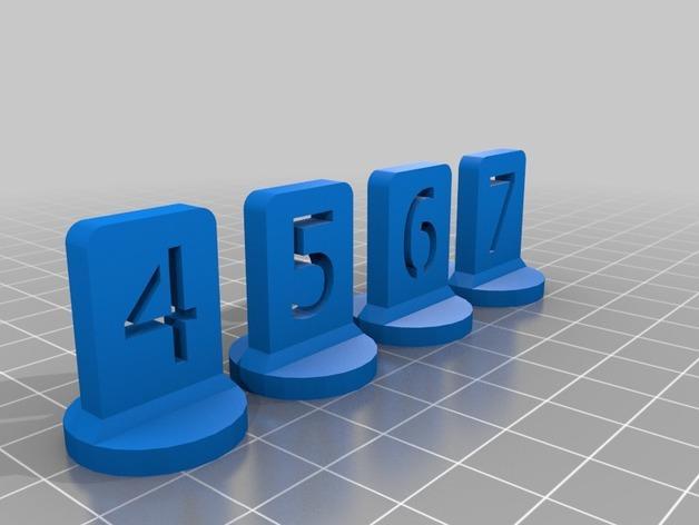 带有数字编号的棋子 3D模型  图13