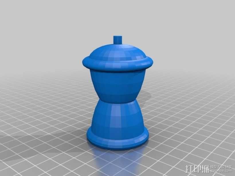 象棋棋子模型 3D模型  图1