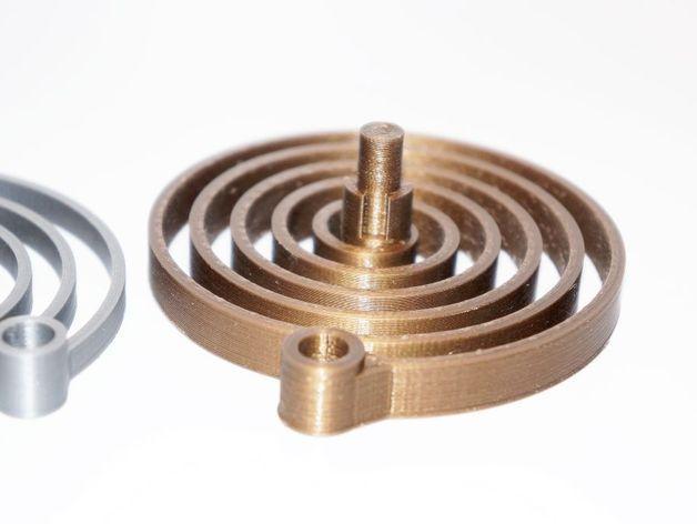 汽车弹簧减震器 3D模型  图1