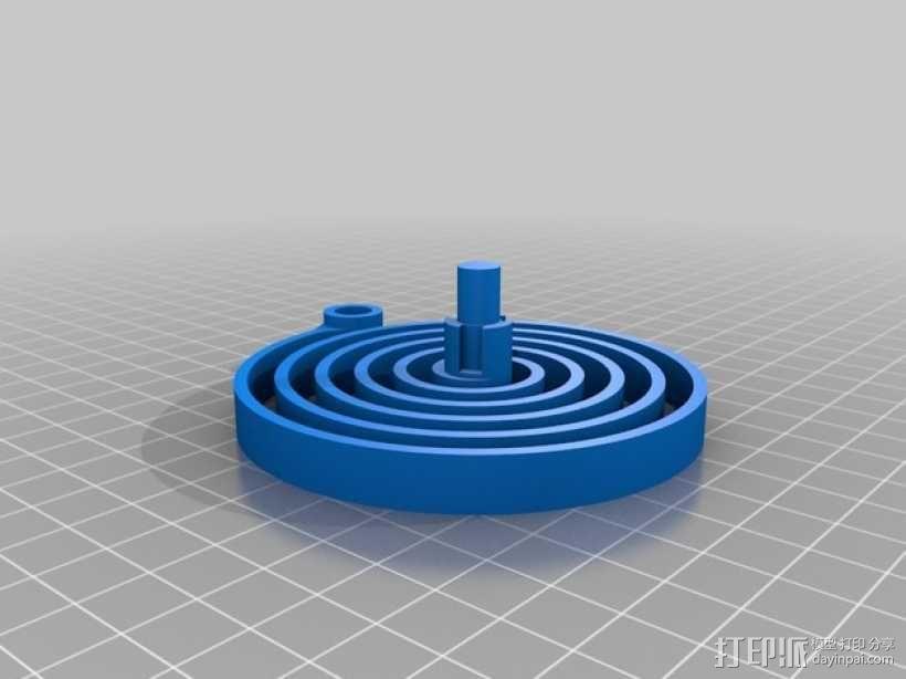 汽车弹簧减震器 3D模型  图3