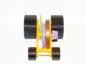 汽车弹簧减震器 3D模型