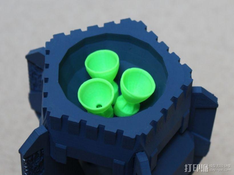 战争游戏中火箭模型 3D模型  图1