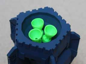 战争游戏中火箭模型 3D模型