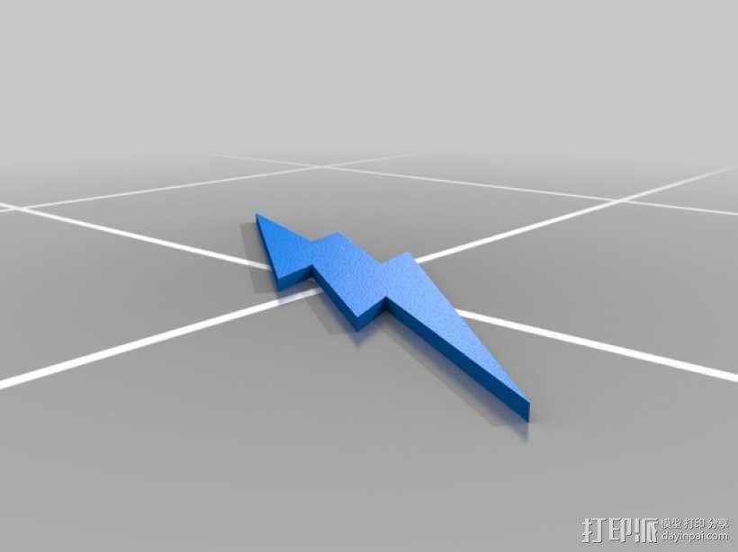 闪电侠标志 3D模型  图1
