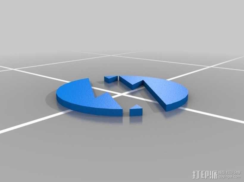 闪电侠标志 3D模型  图2