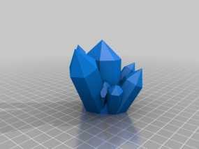 迷你水晶模型 3D模型