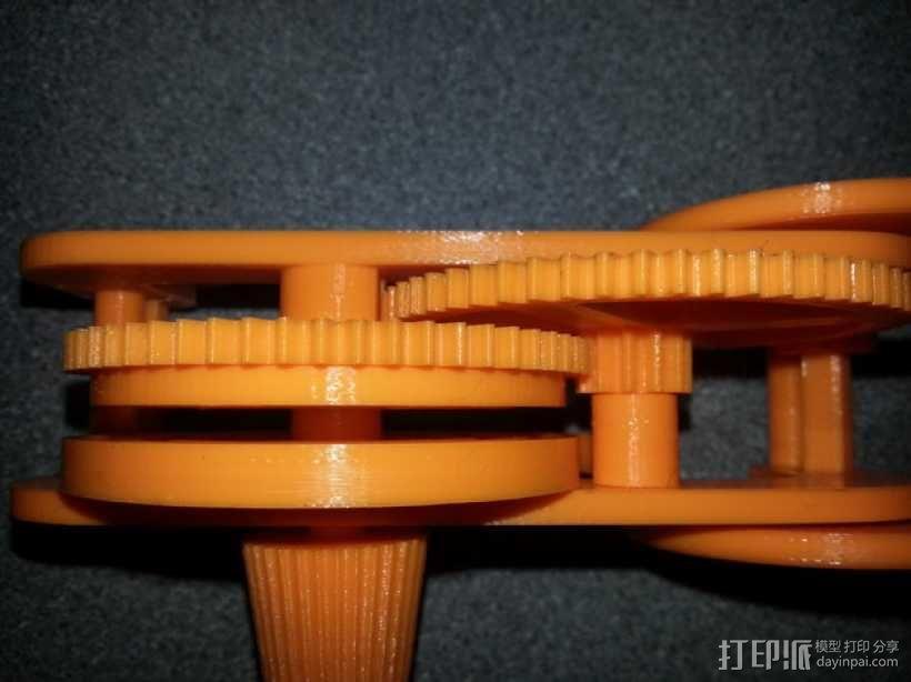 齿轮和底盘组装模型 3D模型  图1