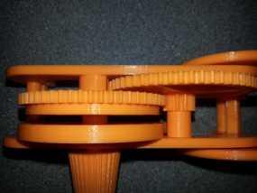 齿轮和底盘组装模型 3D模型