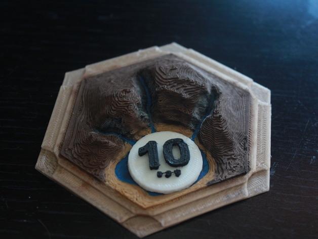 3D打印立体迷你瓷砖 3D模型  图2