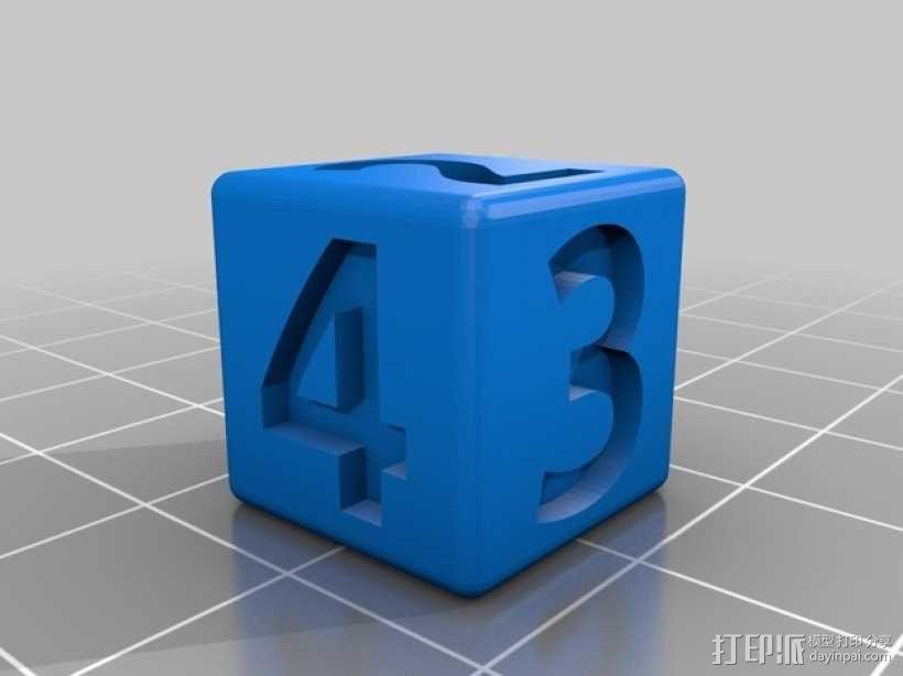 双色骰子 3D模型  图1