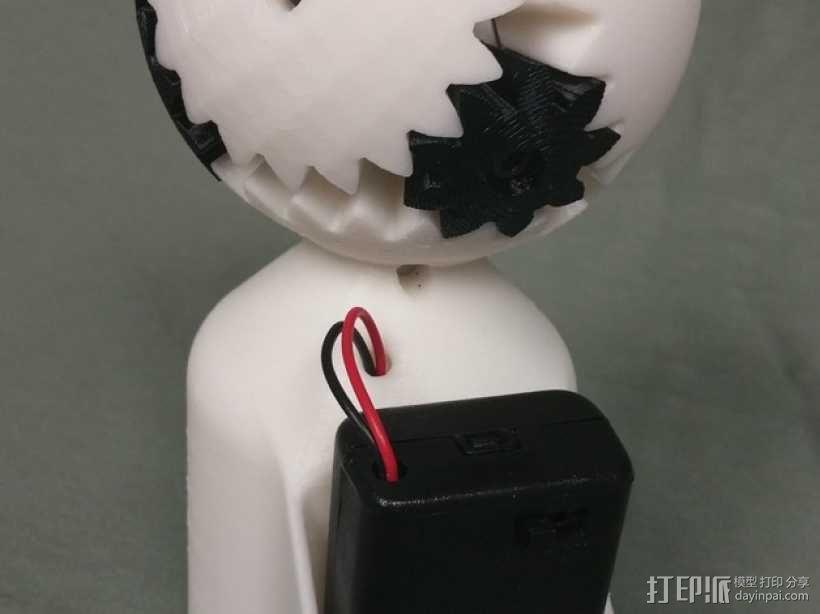 机动化的偏心球齿轮装置 3D模型  图2