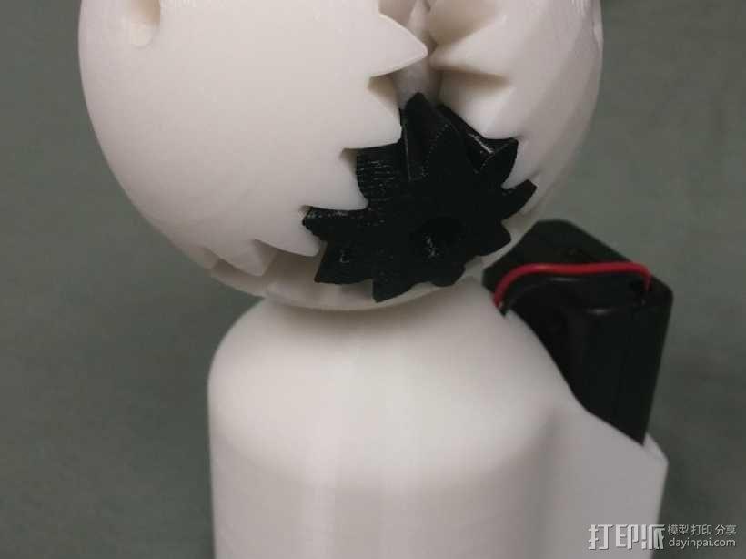 机动化的偏心球齿轮装置 3D模型  图5