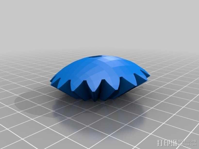 机动化的偏心球齿轮装置 3D模型  图6