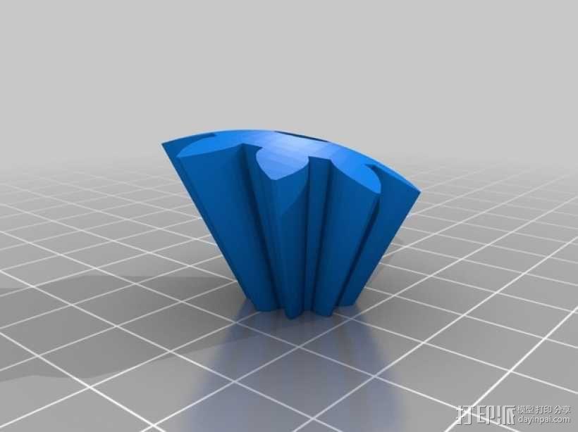 机动化的偏心球齿轮装置 3D模型  图8