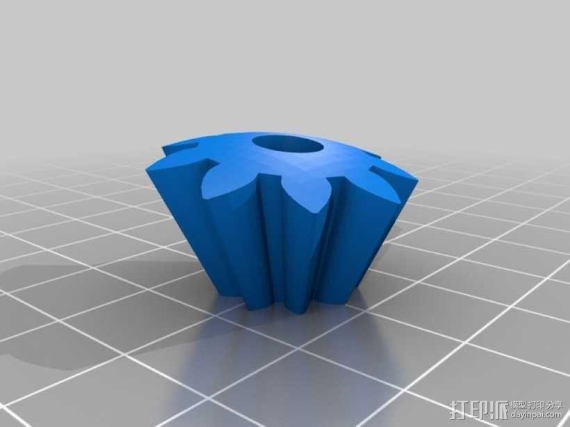 机动化的偏心球齿轮装置 3D模型  图10