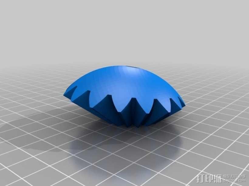 机动化的偏心球齿轮装置 3D模型  图11