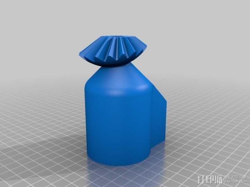 机动化的偏心球齿轮装置 3D模型  图14