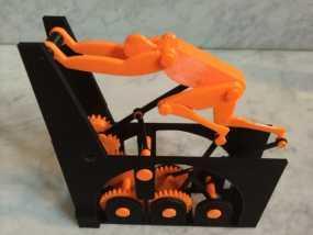 迷你跑步机装置 3D模型