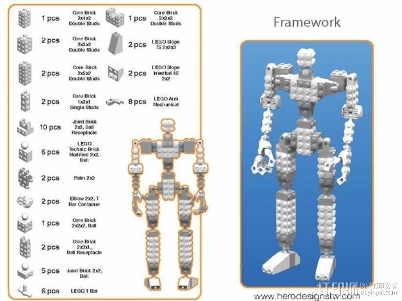 乐高积木玩具 3D模型  图19