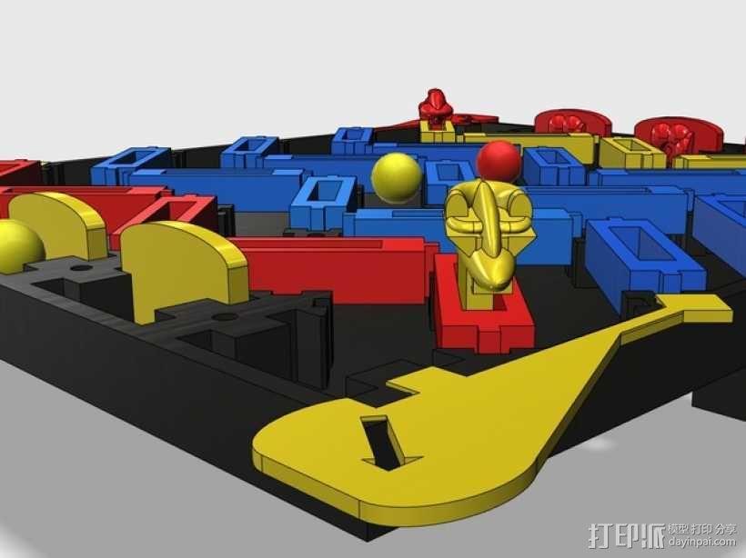 3D打印的迷你棋盘游戏 3D模型  图1