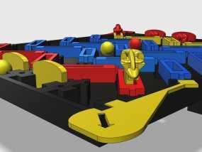3D打印的迷你棋盘游戏 3D模型