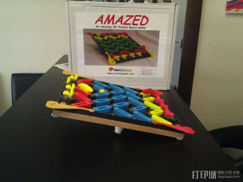 3D打印的迷你棋盘游戏 3D模型  图4